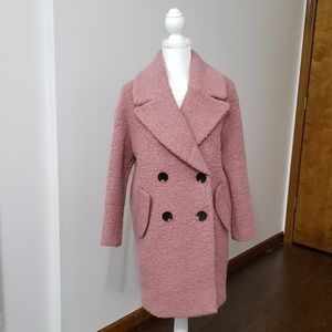 NEW! Topshop Alicia Boucl? Slouch Coat • XS